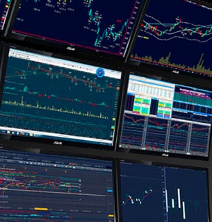 stock trading screens