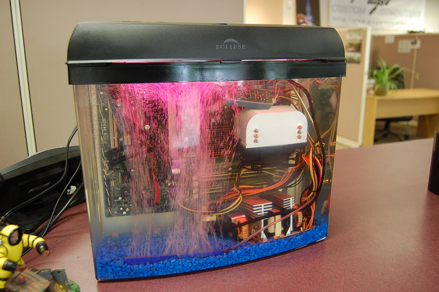 Fish tank PC With Bubles.